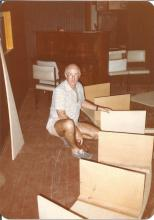 Jim Brown building the set